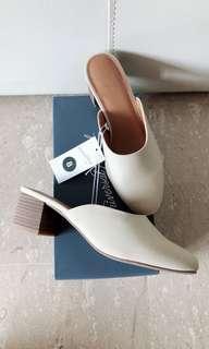 BNIB Avianna Mules with Stacked Heels