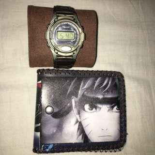 Sports watch and wallet bundle