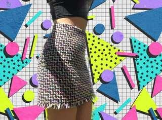 Rainbow knitted Skirt