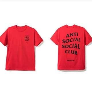 ASSC Singapore City Tee Red Anti Social Club
