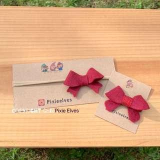 🚚 Handmade Ribbon/Bow headband and clip for babies and toddlers. Christmas/New year