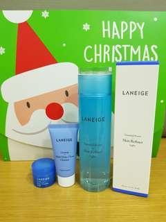 Laneige skin refiner light 200ml free cleanser 30ml bonus sleeping mask15ml
