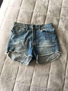 Surf shop rusty denim shorts