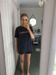 Stussy sport navy oversized shirt