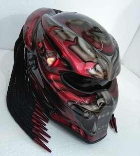 Predator real motorcycle helmet