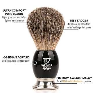 VIKINGS BLADE - DARK STALLION Luxury Badger Brush [BNIB]
