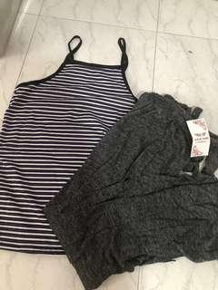 Halter neck tank top and pants set