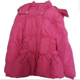 Winter Time Children's Hot Pink Down Jacket