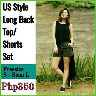 ONHAND! SALE!! Freesize: Loose style top, fits S - Semi L; Fits up to 28 waistline)