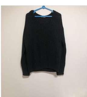 Brandy Melville Black Knitted Sweater Pullover