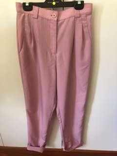 American Apparel baby pink trousers