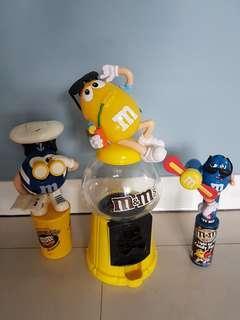 🚚 m&m's公仔造型糖果罐(三樣一起賣)