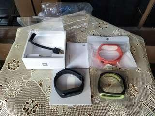 Mi band 3 original like new with strap original orange