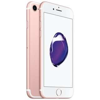 iPhone 7 rose gold $100 w contract, $500 just iPhone