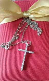 🚚 引雅晶鑽14k金十字架項鍊