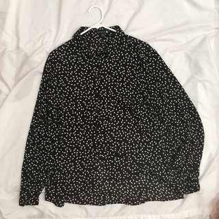 Cotton On Black Long Sleeved Shirt
