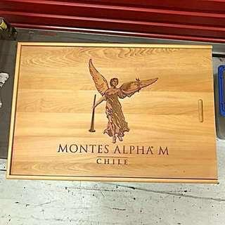 Brand New Slide-Top Wood Wine Box with Engraving