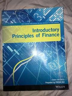 Introductory principles of finance