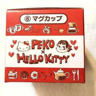 🚚 日本 正版限量 不二家 牛奶妹 peko X hello kitty 杯子 馬克杯 三麗鷗聯名一番賞|Amy's收藏貨