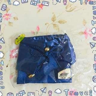 [BNIP SALE] naraya ulzzang ribbon drawstring blue coin pouch / holder