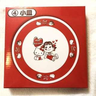 🚚 日本 正版限量 不二家 牛奶妹 peko X hello kitty 盤子 點心盤 三麗鷗聯名一番賞|Amy's收藏貨