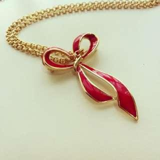 NOLAN MILLER Upcycled Red Ribbon Necklace
