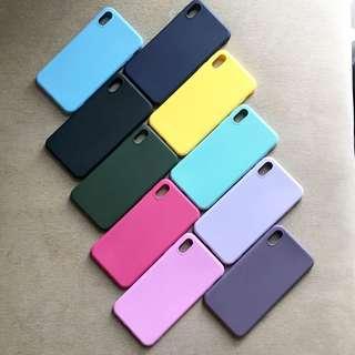 Matte plain colour silicon case X/XS XR XS Max