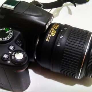 NIKON D3000 + Lensa Kit Bawaan Murah Aja