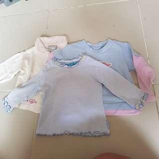 The Children's Place baby longsleeves top stripes 6-9m freebie 2 long sleeves tops