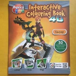 全新 4D 填色冊 pukka Fun Interactive Colouring Book 4D fantasy
