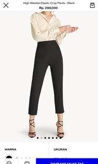 POMELO black elastic high waist pants