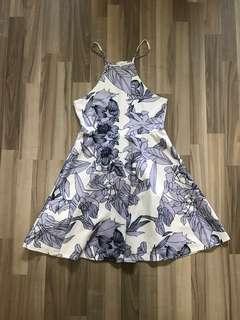 Floral Halter Neck Dress, Size S