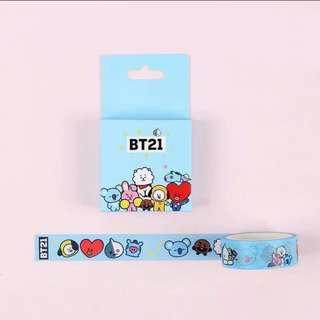 bt21 washi tape [ instock ]