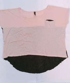 Kaos pink black