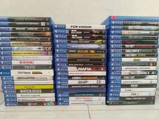 Ps4 Games(PRICE BELOW)