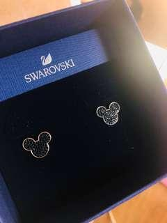 Authentic Swarovski Mickey Mouse Earrings