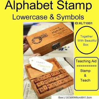 Alphabet - Lower Case & Symbols Stamp - Brand New in Box