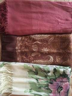 3 scarves for the price of one