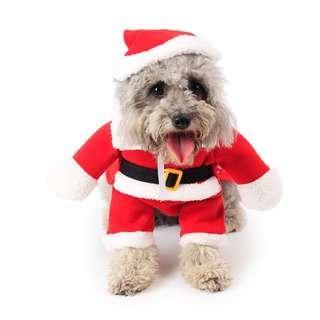 Christmas dog clothing dogs clothes cat cats pet santa