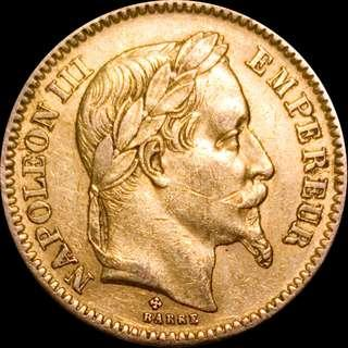 Gold 20 Francs - Napoleon III 1864BB