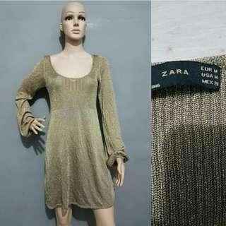 Zara dress size L , like new ( dress zara / lomg sleeve dress / party dress / dress import / dress cantik / elegant dress / party dress / casual dress )