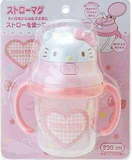 🇯🇵日本直送 Sanrio Hello Kitty學習水杯 230ml