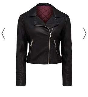 Faux biker jacket