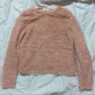 Mango Pink Fur Top