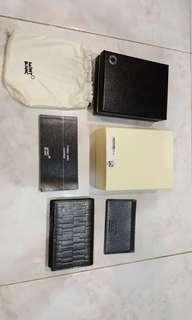 MONT BLANC LEATHER BUSINESS CARD HOLDER
