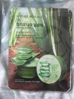 Nature republic aloe face mask pack of 2