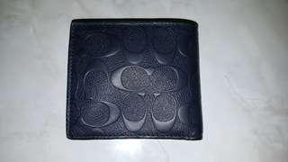 COACH MIDNIGHT NAVY BLUE WALLET