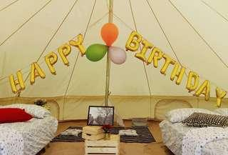 birthday tent booking for 4pax .
