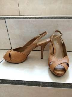 Charles & Keith Heels Shoes - Mustard