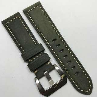 Black Friday Biggest Sale: 22mm Watch Strap Military Green Colour Genuine Suede Leather V1